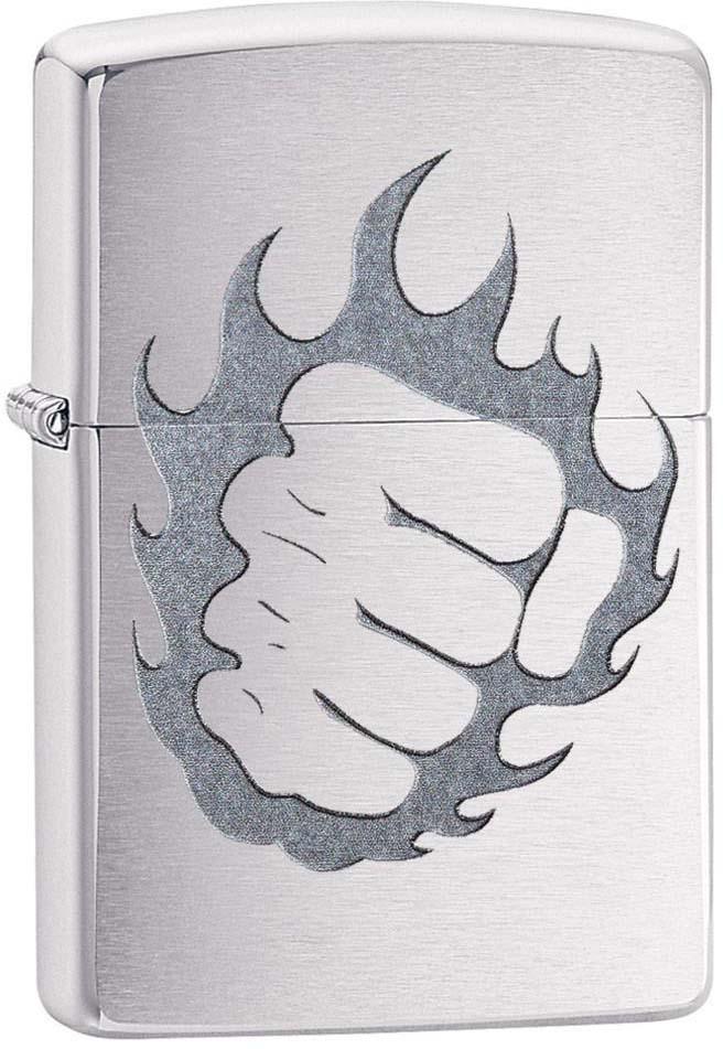 """Зажигалка Zippo """"Classic"""", цвет: серебристый, 3,6 х 1,2 х 5,6 см. 52907"""