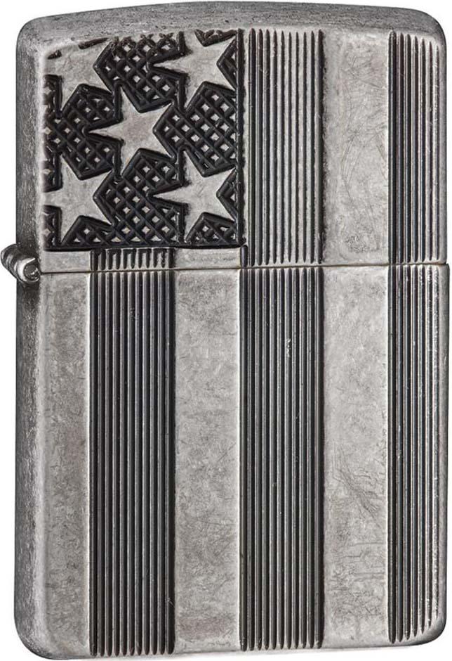 Зажигалка Zippo Armor, цвет: серый, 3,6 х 1,2 х 5,6 см. 52912