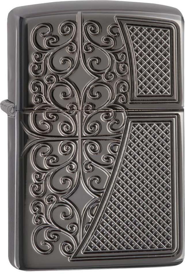 Зажигалка Zippo Armor, цвет: черный, 3,6 х 1,2 х 5,6 см. 53593 zippo slim black