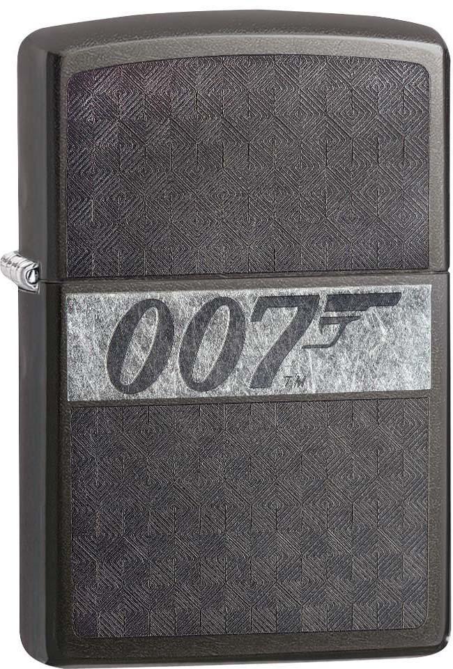 "Зажигалка Zippo ""James Bond"", цвет: черный, 3,6 х 1,2 х 5,6 см. 53766"