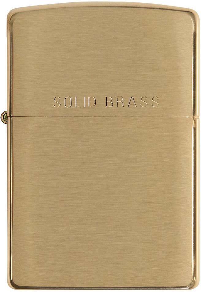 Зажигалка Zippo , цвет: золотистый, 3,6 х 1,2 х 5,6 см. 730