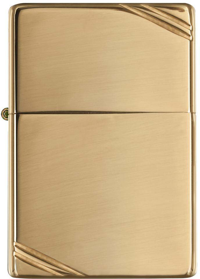 Зажигалка Zippo Vintage, цвет: золотистый, 3,6 х 1,2 х 5,6 см. 942