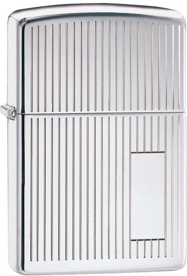 Зажигалка Zippo Classic, цвет: серебристый, 3,6 х 1,2 х 5,6 см. 967