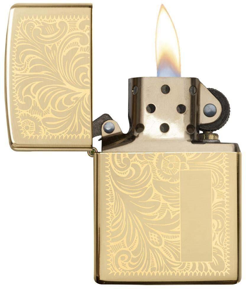 Зажигалка Zippo Venetian, цвет: золотистый, 3,6 х 1,2 х 5,6 см. 968 зажигалки zippo z 2406n