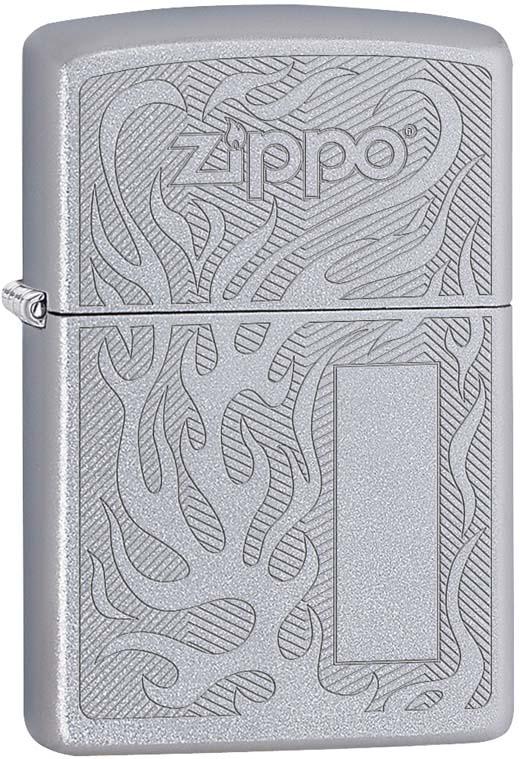 Зажигалка Zippo, цвет: серебристый, 3,6 х 1,2 х 5,6 см. 55050