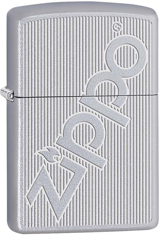 Зажигалка Zippo, цвет: серебристый, 3,6 х 1,2 х 5,6 см. 55063