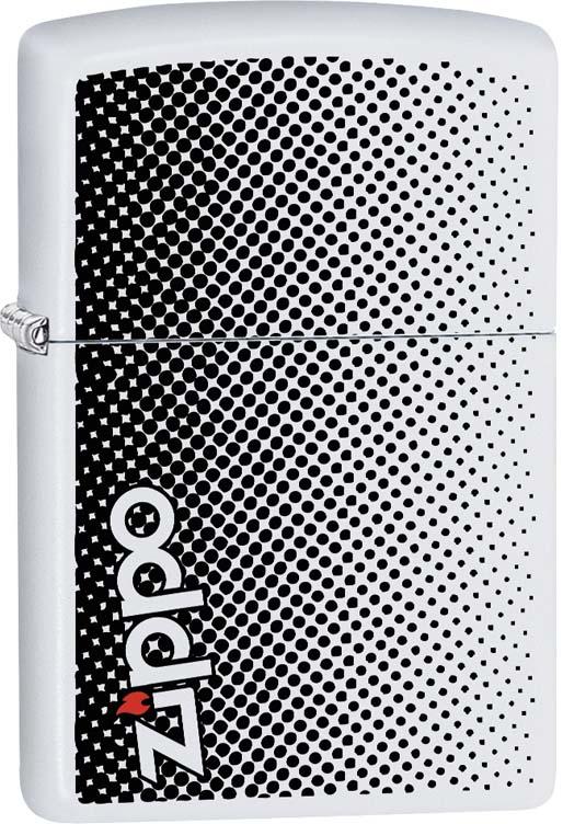 Зажигалка Zippo, цвет: белый, 3,6 х 1,2 х 5,6 см. 55064