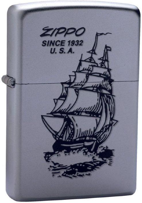 Зажигалка Zippo Boat-Zippo, цвет: серебристый, 3,6 х 1,2 х 5,6 см. 35285
