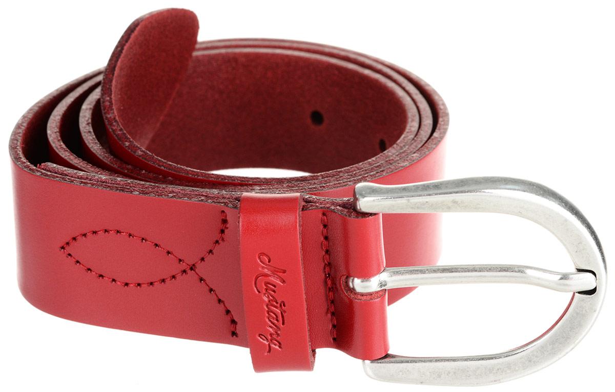 Ремень женский Mustang, цвет: красный. MW3015L01-0350. Размер 85
