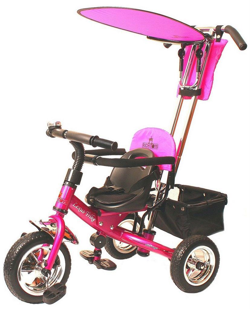 Jetem Детский велосипед Lexus Trike трехколесный цвет розовый