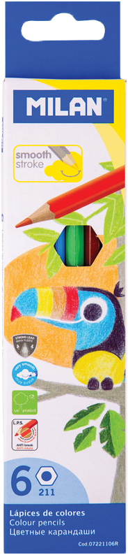 Milan Карандаши 211 6 цветов карандаши восковые мелки пастель milan карандаши 213 24 цветов