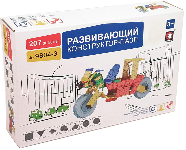 Умный Шмель Пластиковый конструктор Мотоцикл конструктор пластиковый toto 021 подъемник 84 детали