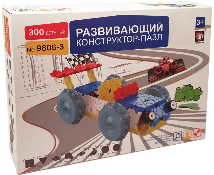Умный Шмель Пластиковый конструктор Гоночная машина конструктор пластиковый toto 021 подъемник 84 детали