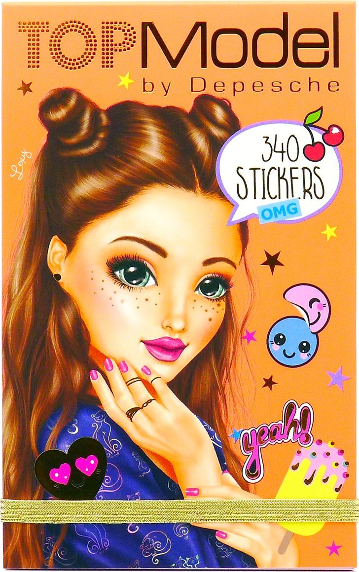 Depesche Блокнот TOPModel OMG с наклейками 048574/008574/оранжевый наклейки детские depesche альбом topmodel fantasy мир стикеров с наклейками