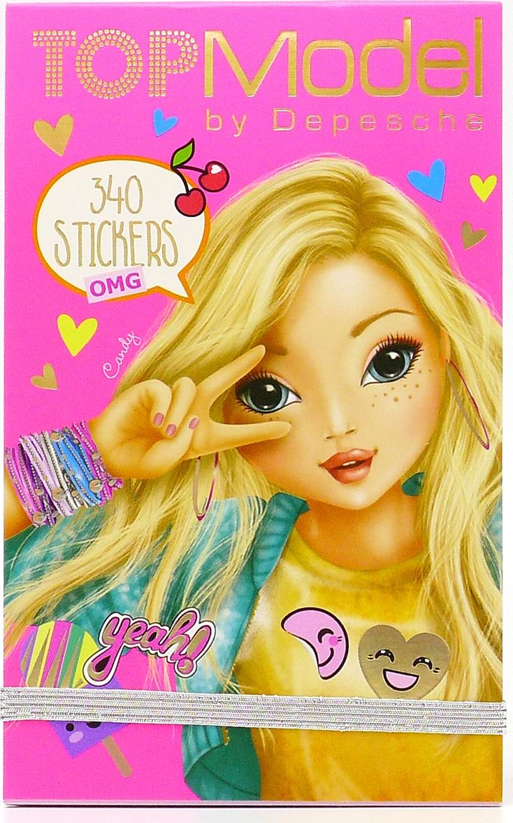 Depesche Блокнот TOPModel OMG с наклейками 048574/008574/розовый наклейки детские depesche альбом topmodel fantasy мир стикеров с наклейками