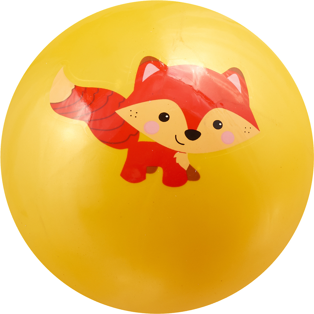 Играем вместе Мяч Лисенок 23 см AD-9 цвет желтый мяч играем вместе холодное сердце розовый