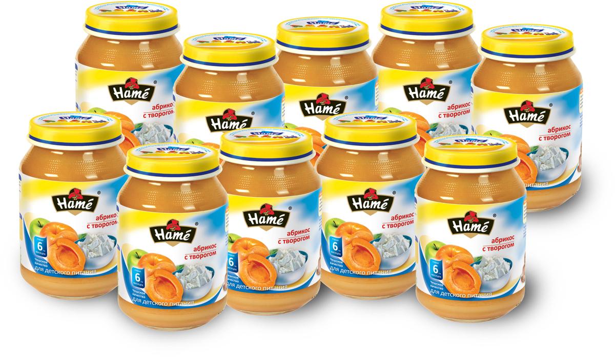 Hame пюре абрикос с творогом фруктовое, 10 шт по 190 г hame пюре абрикос с творогом фруктовое 10 шт по 190 г