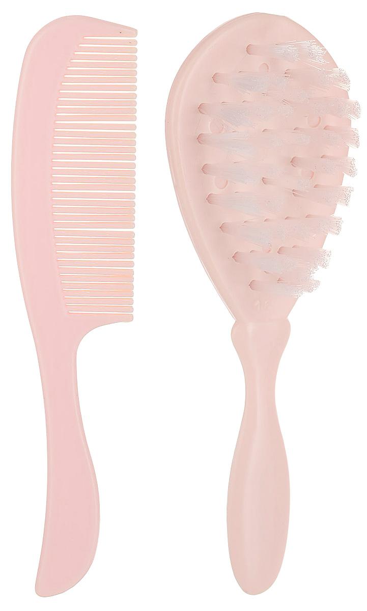 Курносики Набор Щетка и расческа для волос цвет кремовый расчески bibi набор детская и щетка для волос из натуральной щетины 103590