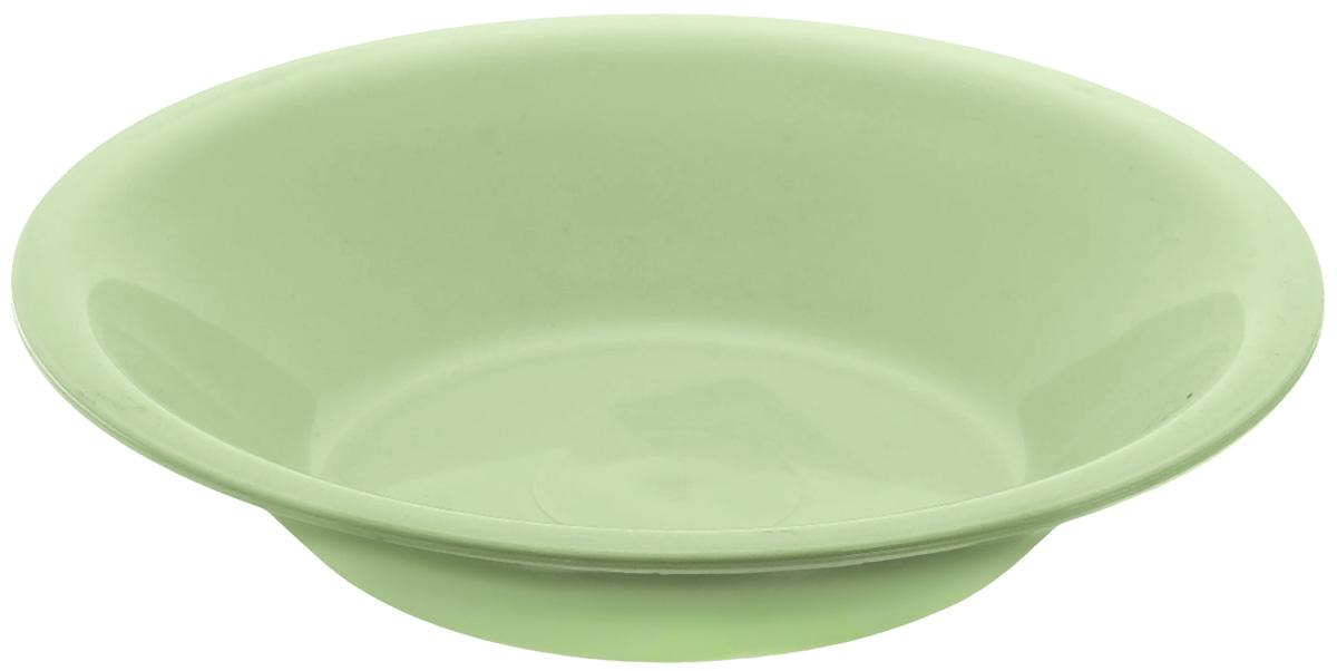 Тарелка глубокая Gotoff, цвет: фисташковый, диаметр 18,5 см