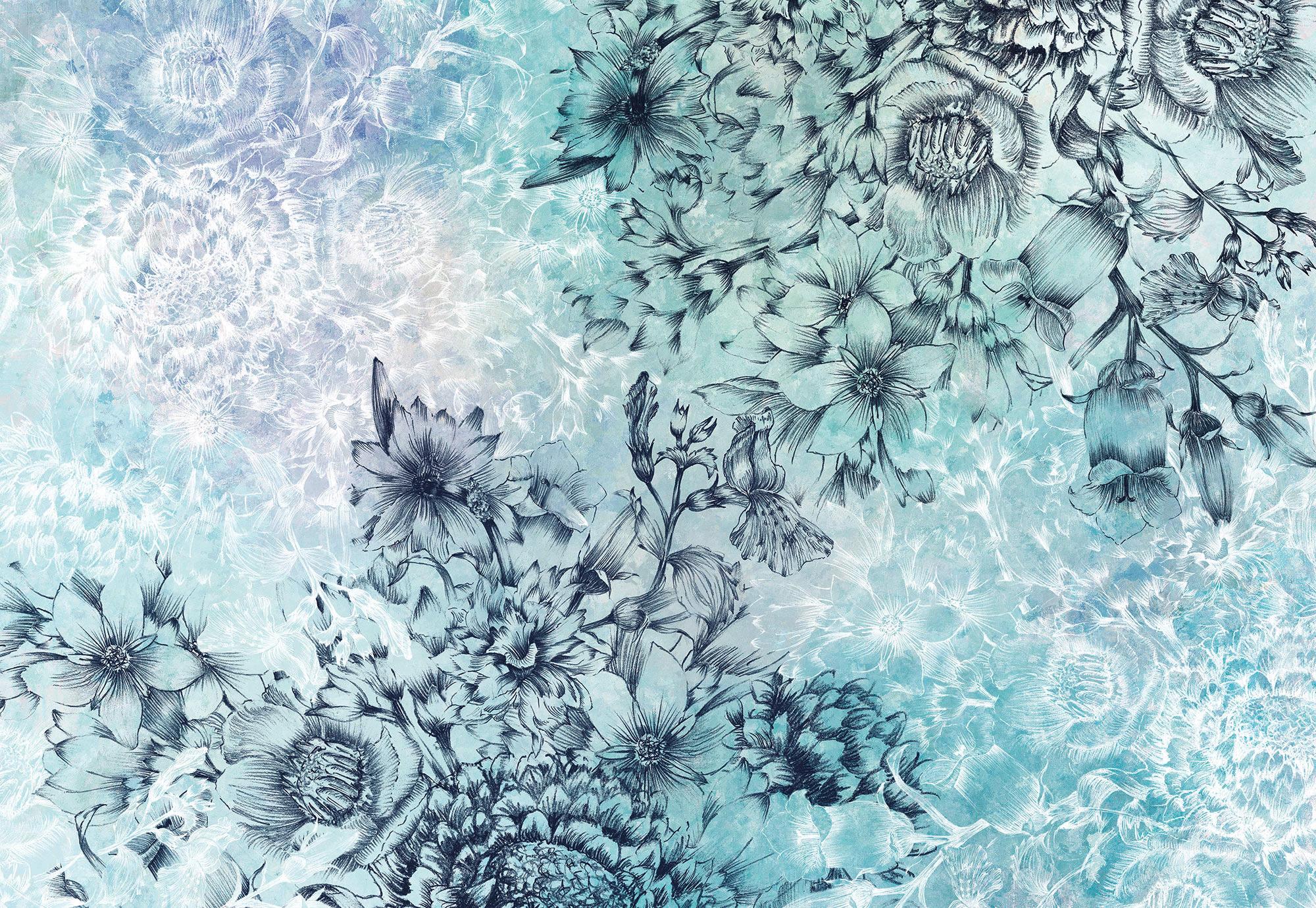 Фотообои Komar Воздушные цветы, 368 см х 2,48 м, флизелиновые фотообои komar остров сокровищ 3 68 х 2 54 м