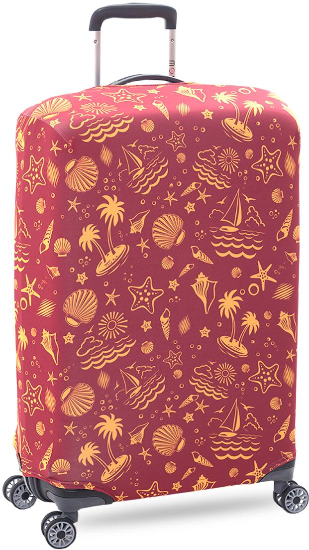Стильный и практичный чехол защитит ваш чемодан. Размер М (средний) предназначен для чемоданов высотой от 65 см до 75 см. Благодаря прочной и эластичной ткани чехол отлично садится на любой чемодан. Внизу чехла - упрочненная молния- трактор. Ткань чехла приятная на ощупь, не скользит и легко надевается на чемодан.  Чехол для чемодана это: • Защита от пыли, грязи и разных повреждений.  • Экономия денег и времени на обмотке пленкой чемодана в аэропорту. • Защита от вскрытия. • Яркая индивидуальность. Вы никогда не перепутаете свой чемодан с чужим как на багажной ленте в аэропорту, так и в автобусе.