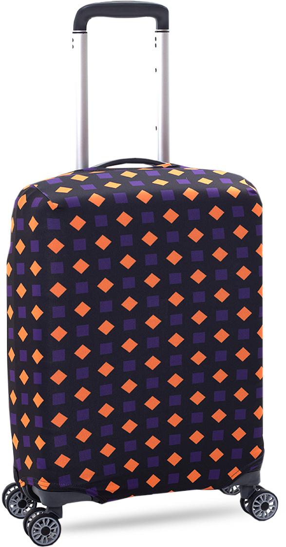 Стильный и практичный чехол защитит ваш чемодан. Размер S (ручная кладь) предназначен для чемоданов высотой от 55 см до 65 см. Благодаря прочной и эластичной ткани чехол отлично садится на любой чемодан. Внизу чехла - упрочненная молния- трактор. Ткань чехла приятная на ощупь, не скользит и легко надевается на чемодан.  Чехол для чемодана это: • Защита от пыли, грязи и разных повреждений.  • Экономия денег и времени на обмотке пленкой чемодана в аэропорту. • Защита от вскрытия. • Яркая индивидуальность. Вы никогда не перепутаете свой чемодан с чужим как на багажной ленте в аэропорту, так и в автобусе.