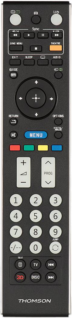 Thomson 132500, Black пульт ДУ для Sony TVs