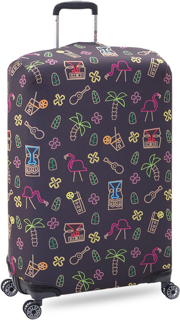 Чехол на чемодан KonAle Фламинго, размер L (высота чемодана: 70-100 см)