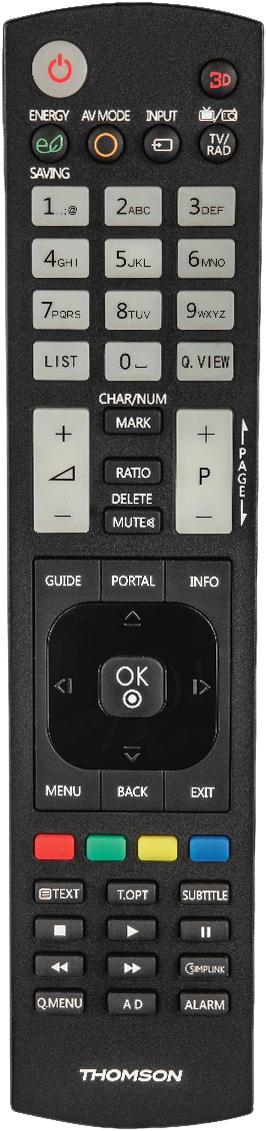 Thomson 132499, Black пульт ДУ для LG TVs