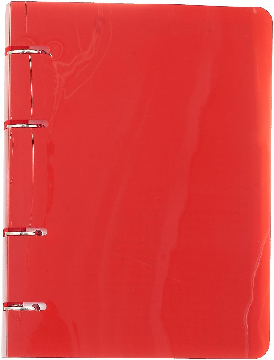 Бриз Тетрадь 80 листов в клетку цвет красный