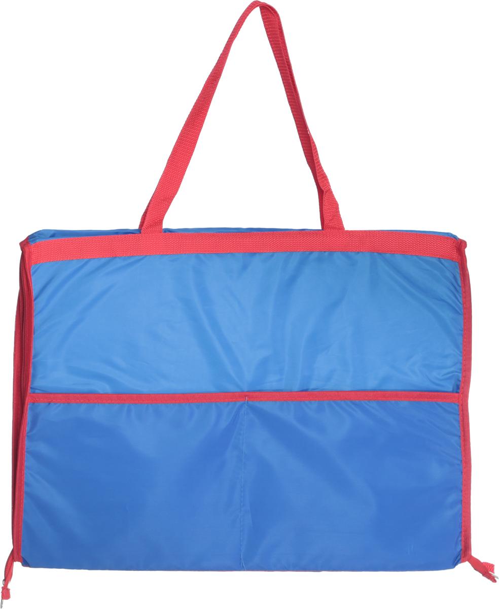 Сумка-коврик пляжная Eva, цвет: голубой, красный, 38 х 52 см коврик гимнастический kettler цвет голубой 173 х 61 см