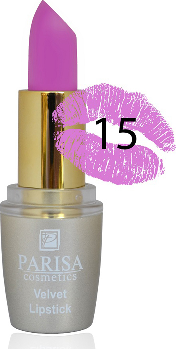 Parisa Помада для губ Mate Velvet, тон №15 ночной тюльпан, 3,8 г