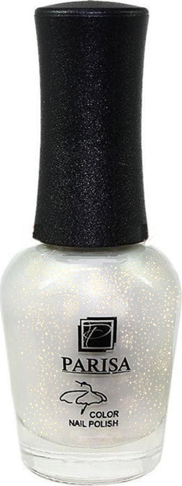 Parisa Лак для ногтей, тон №78 белый с золотыми блестками, 16 мл