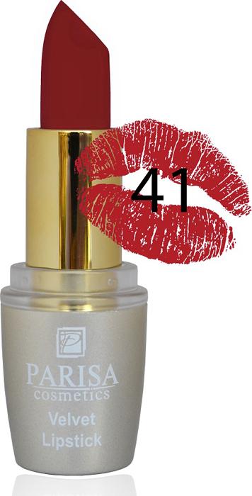 Parisa Помада для губ Mate Velvet, тон №41 соблазнительный бордо, 3,8 г