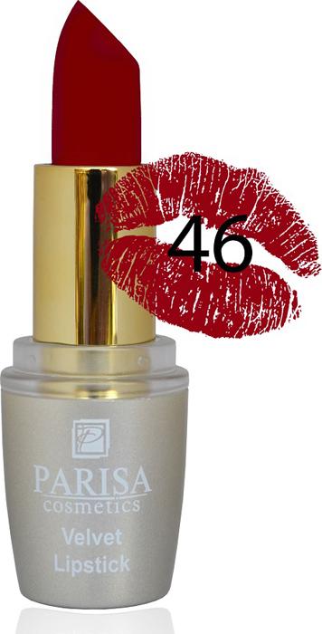 Parisa Помада для губ Mate Velvet, тон №46 бордовый кашемир, 3,8 г