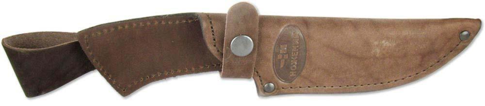 Чехол с подвесом для нескладного ножа Ножемир, цвет: коричневый. Чехол №9п(к) ножемир таёжник 5939 к