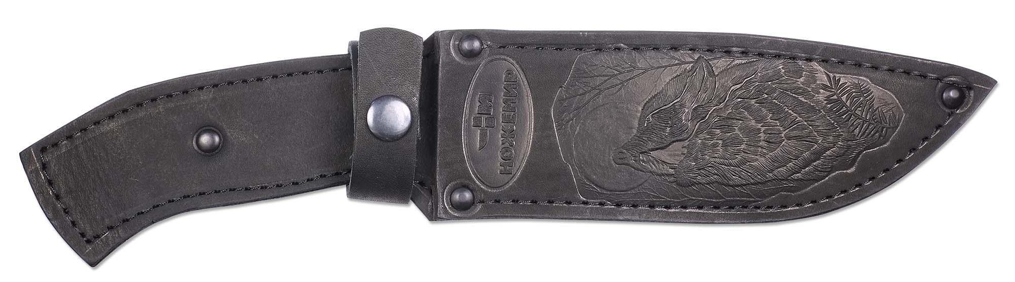 Чехол для нескладного ножа Ножемир, цвет: черный. Чехол №12