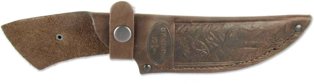 Чехол для нескладного ножа Ножемир, цвет: коричневый. Чехол №9(к)