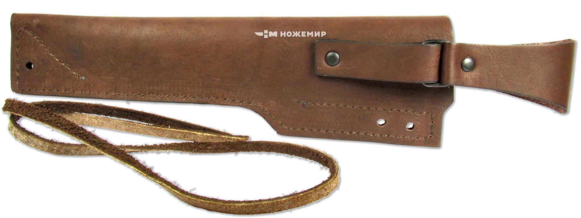 Чехол для нескладного ножа Ножемир, цвет: коричневый. Чехол №15(п)к