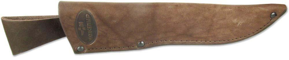 Чехол с подвесом для нескладного ножа Ножемир, цвет: коричневый. Чехол №6п(к)