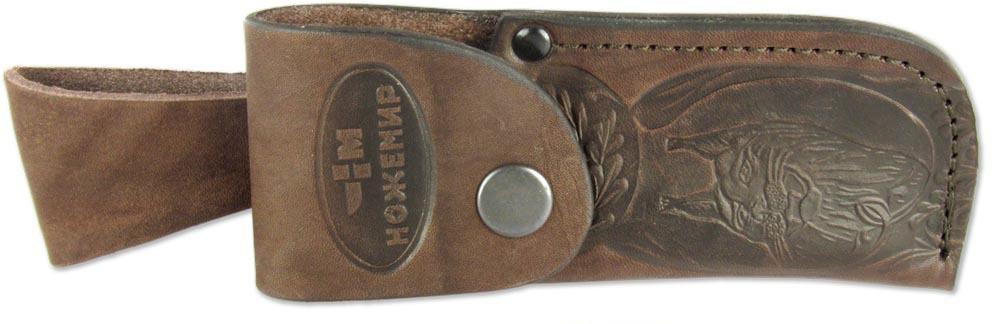 Чехол для складного ножа Ножемир, цвет: коричневый. Чехол №13п(к)