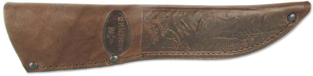 """Чехол """"Ножемир"""" - необходимое средство для надежного хранения и безопасной транспортировки ножа. Выполнен из натуральной кожи. Изделие можно повесить на ремень при помощи специальной петли. Длина клинка: 145-150 мм.Ширина клинка: 42 мм."""