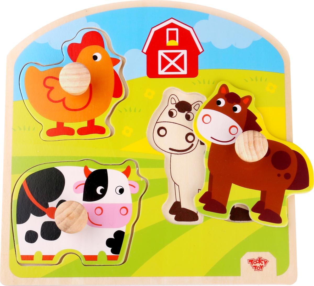 Tooky Toy Пазл Ферма TKG021 пазлы qiqu wooden toy factory рамка вкладыш машинки