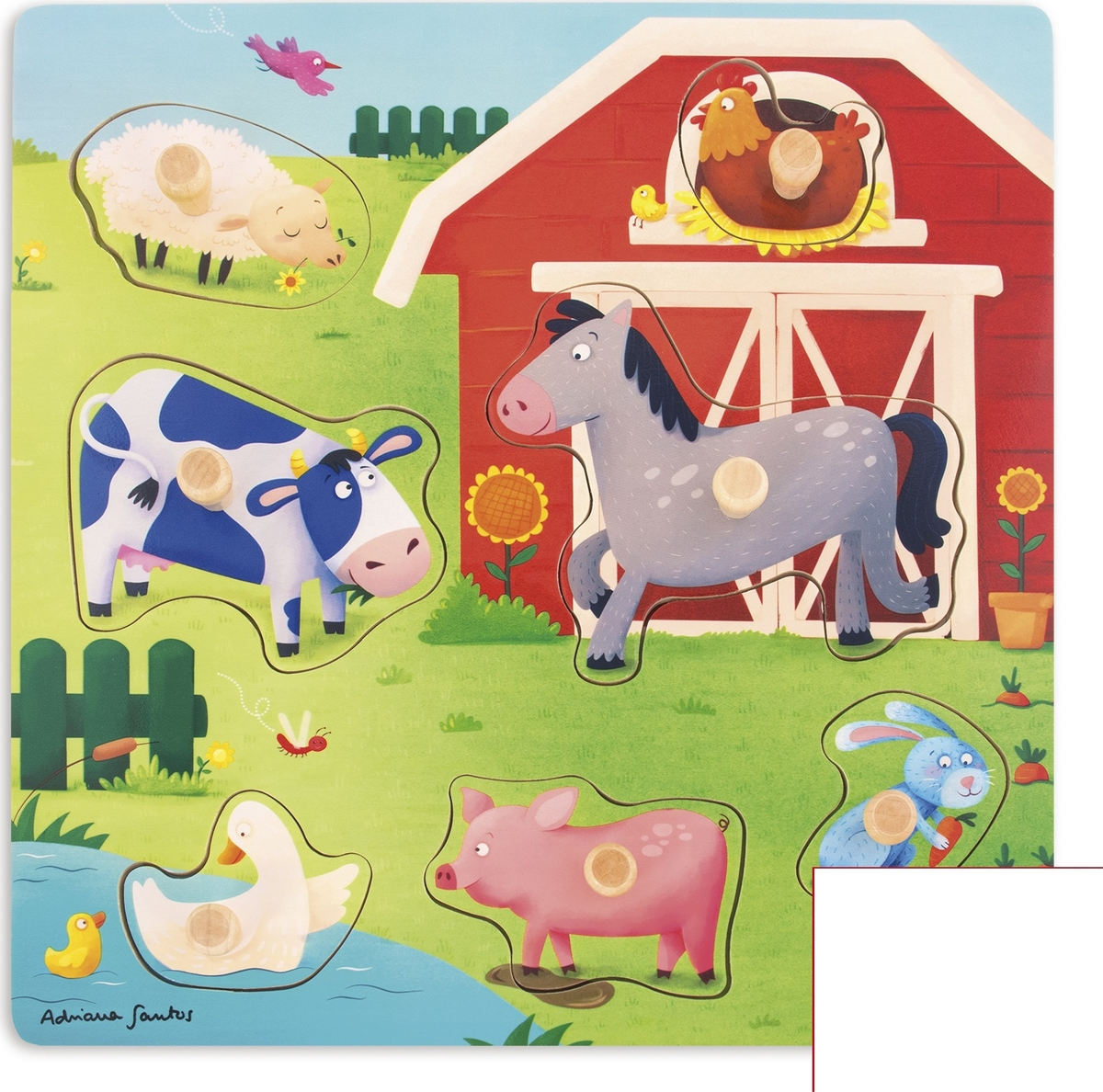 Goula Рамка-вкладыш Ферма Мама и малыш 53040
