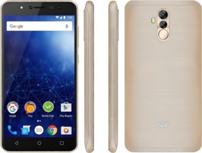 Vertex Impress New 4G, Gold мобильные телефоны vertex s104 золотистый
