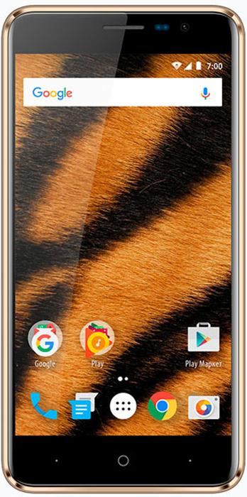 Vertex Impress Tiger 4G, Gold смартфон