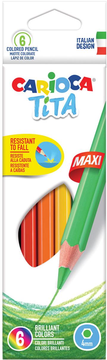 Carioca Набор цветных карандашей Tita Maxi 6 цветов carioca набор крупных цветных карандашей tita maxi 6 цветов