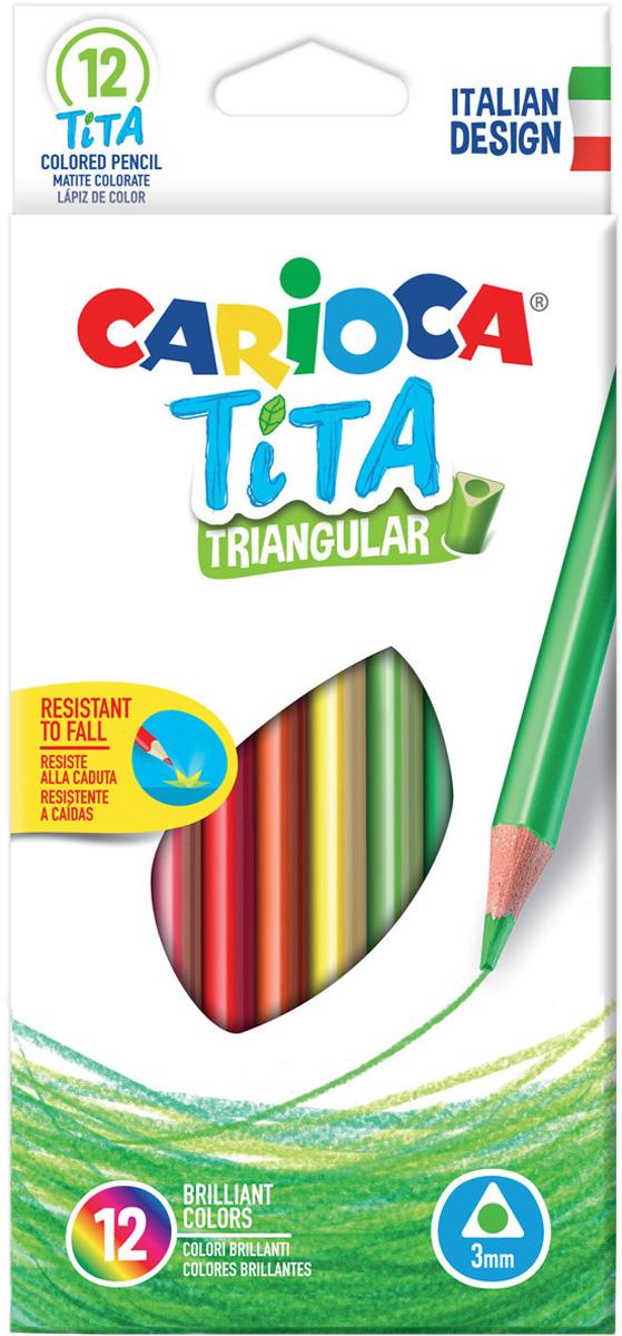 Carioca Набор цветных карандашей Tita 12 цветов трехгранные brunnen набор цветных карандашей fans of earth 12 цветов