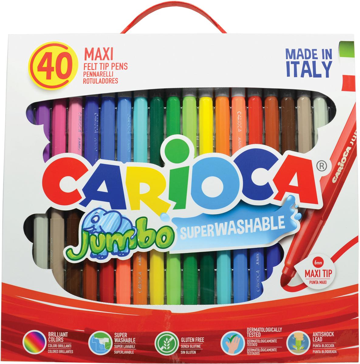 Carioca Набор фломастеров Jumbo 40 цветов carioca набор фломастеров jumbo 40 цветов