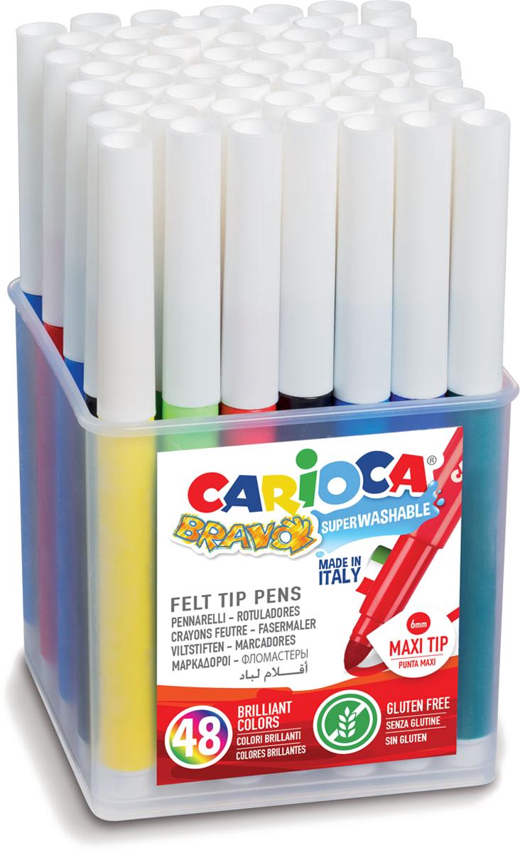 все цены на Carioca Набор фломастеров Bravo 48 шт онлайн